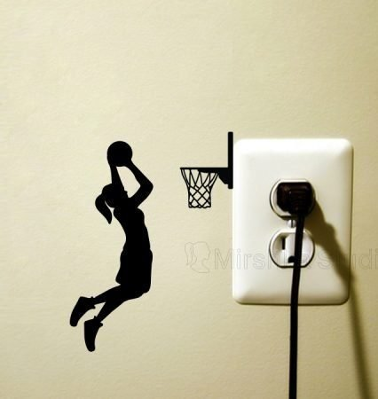 girl playing basketball sticker