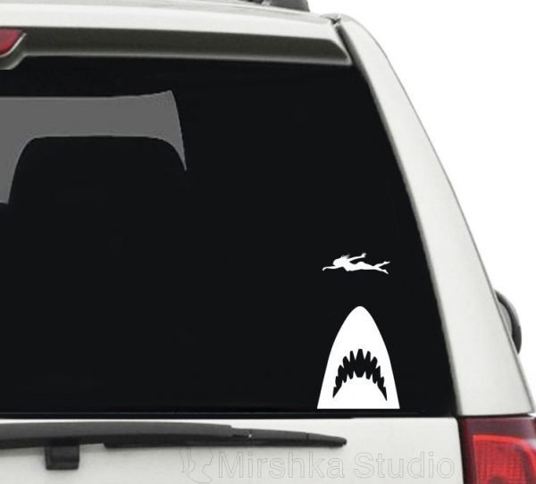 jaws car sticker