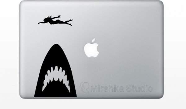 jaws laptop decal