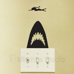 jaws movie wall sticker