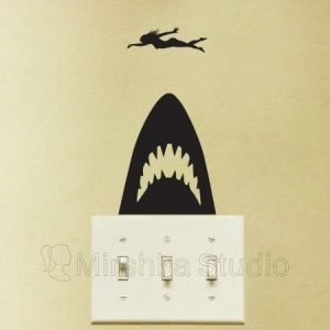 jaws movie wall sticker