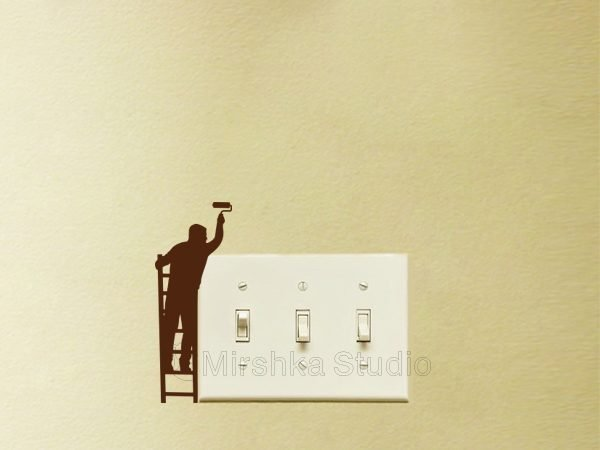 light switch cool decal