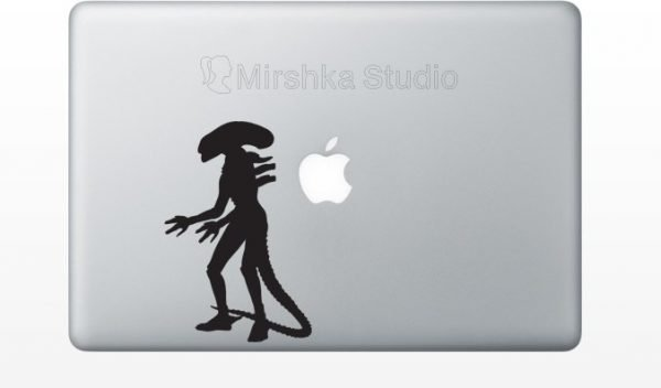 alien laptop sticker