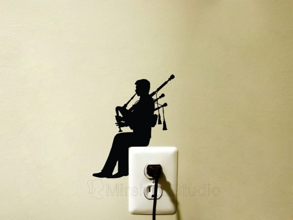 bagpipe player sticker