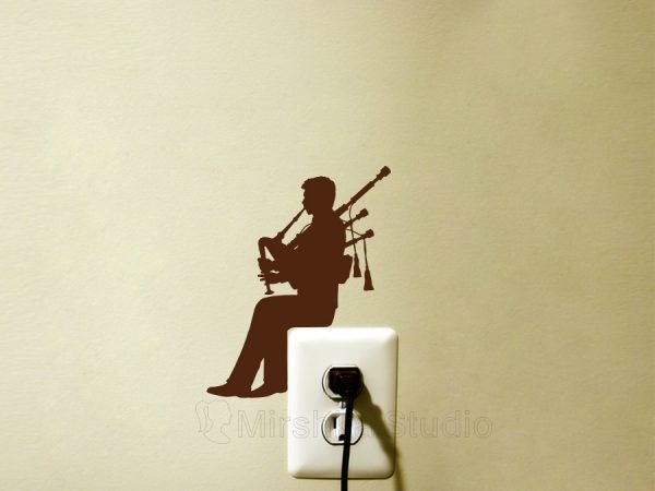 bagpipes light switch decal