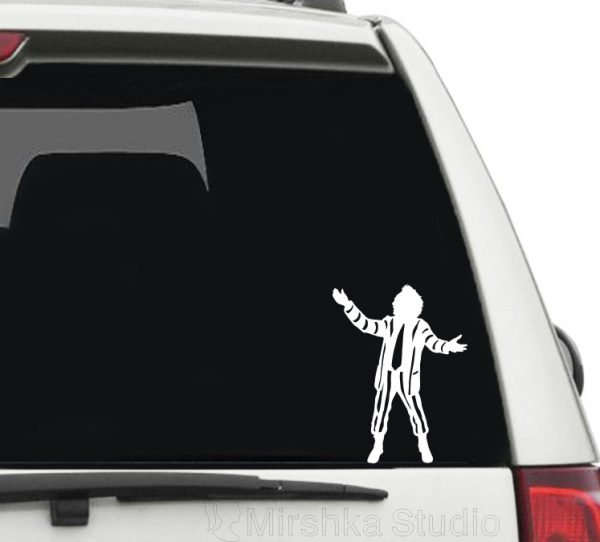 beetlejuice car sticker