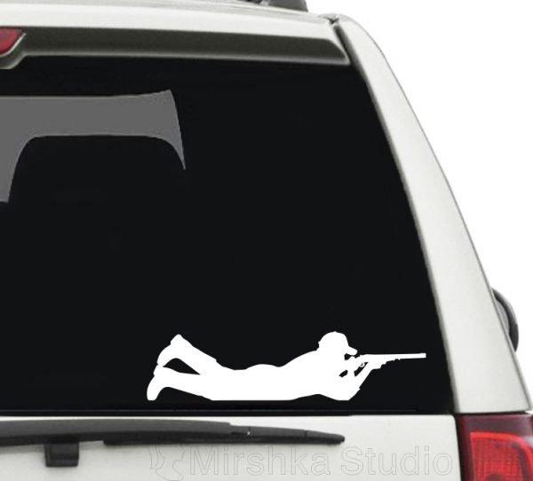 hunting car sticker