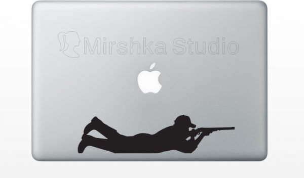hunting laptop sticker