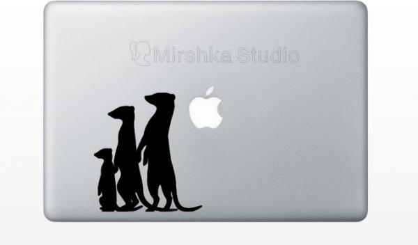 meerkat laptop decal
