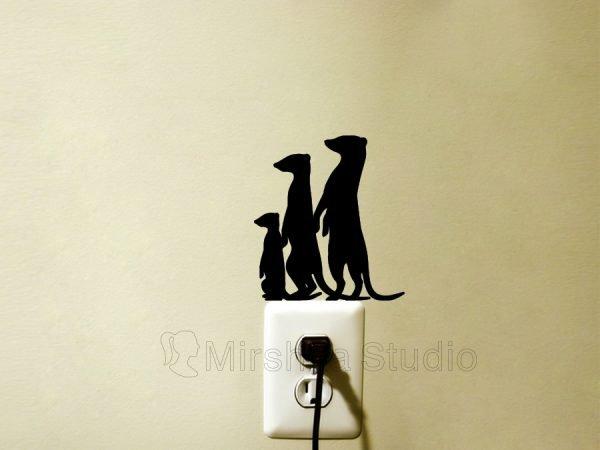 meerkat wall sticker