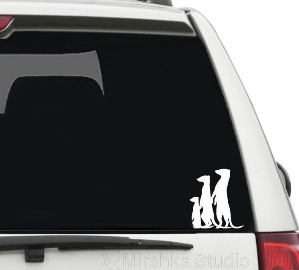 meerkats family car sticker