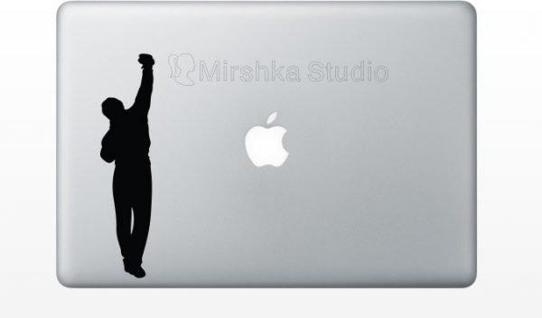 rocky laptop sticker