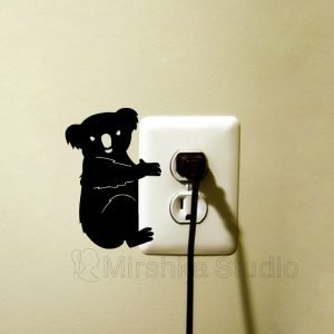 koala light switch sticker