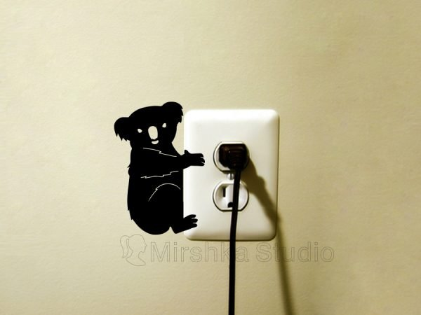 koala light switch sticker