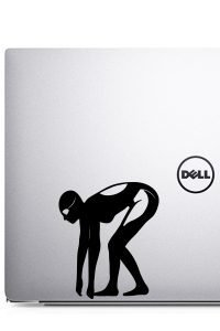 swim laptop decal