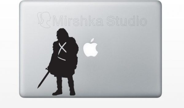 jon snow laptop sticker