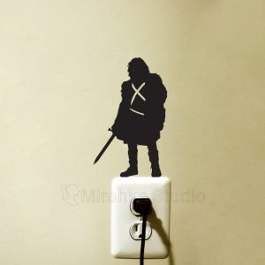 jon snow wall sticker