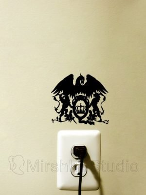queen logo sticker