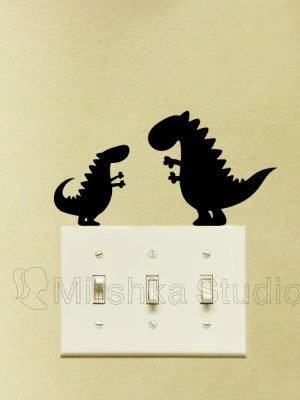 cute dinos wall stickers