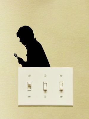 sherlock light switch sticker