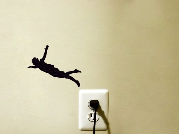 jumping man sticker