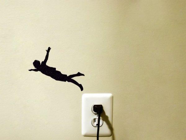 jumping man sticker