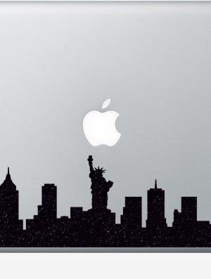 nyc skyline macbook sticker