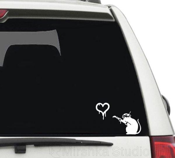 banksy car sticker