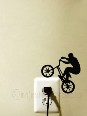 bmx rider decal