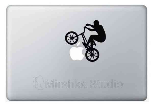 bmx laptop sticker