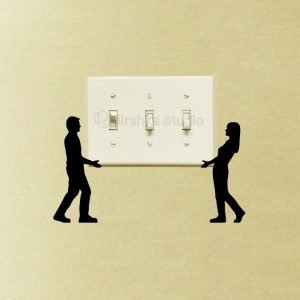 cool light switch sticker