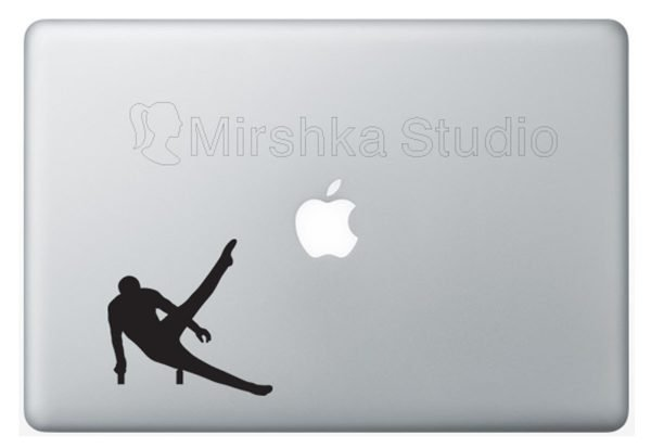 gymnast laptop decal