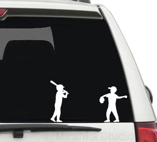 kids softball car decals