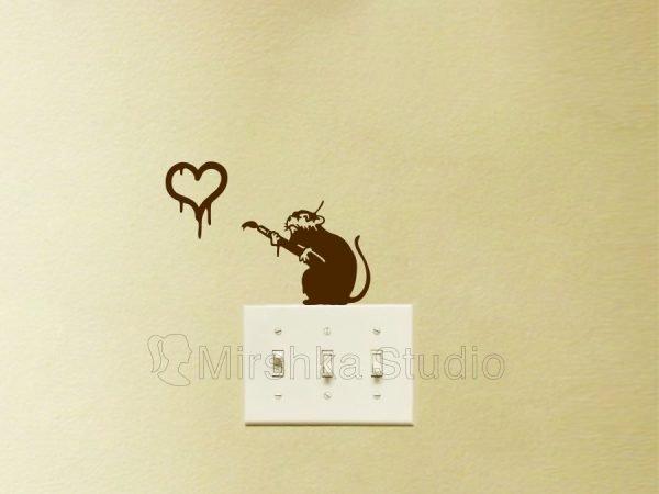 love rat decal