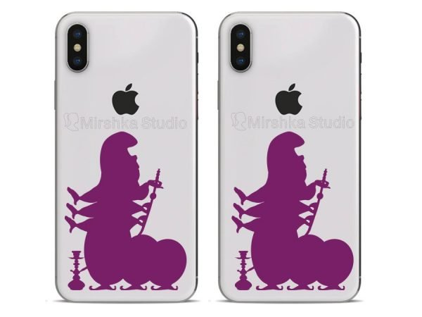 purple caterpillar phone decals