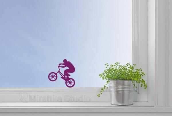 purple window decor