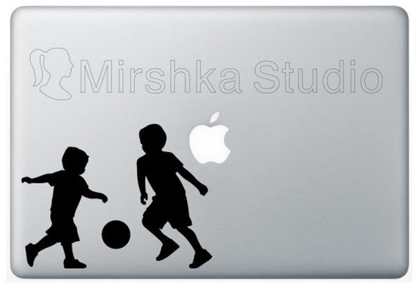 soccer laptop sticker