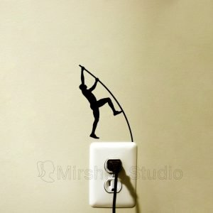 Pole vault light switch sticker