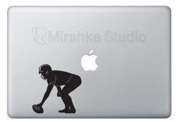 american football laptop sticker