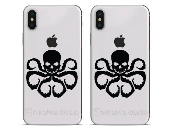 avengers red skull phone stickers