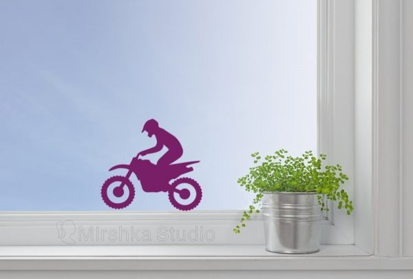 bike window decor
