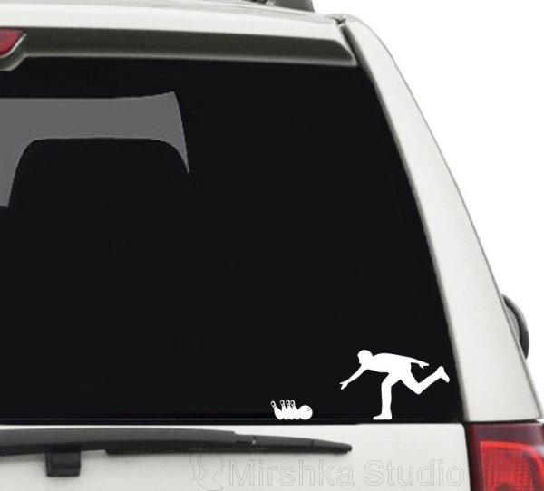 bowling game car decal