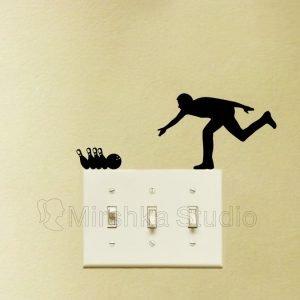 bowling wall sticker