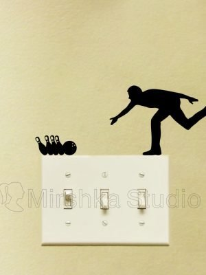bowling wall sticker