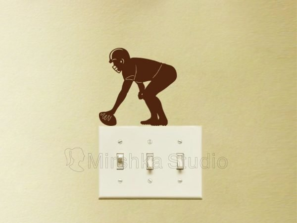 brown sport sticker for light switch