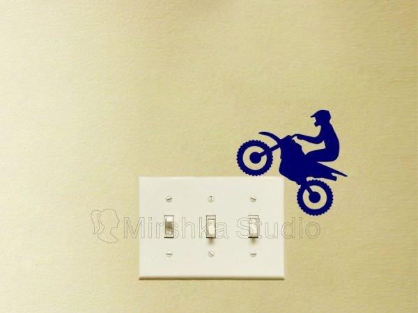 cool biker decal