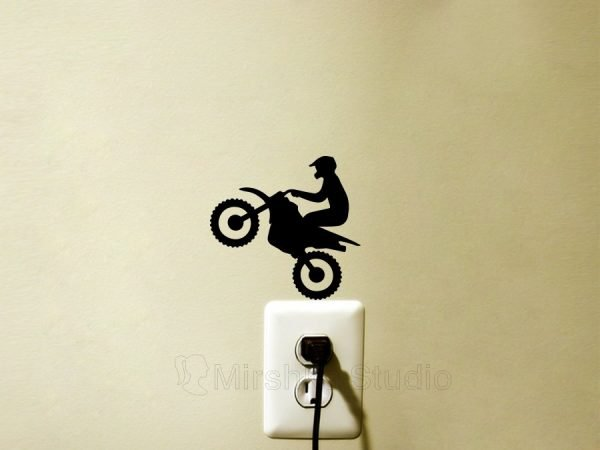 dirt bike wall sticker
