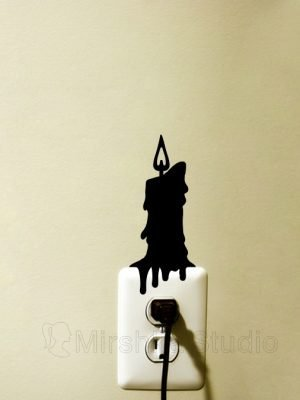 dripping candle light switch sticker