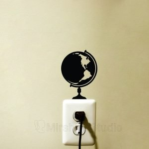globe light switch sticker