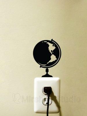globe light switch sticker